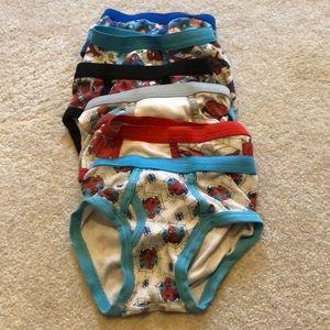 Six pair Spider-Man boys underwear size 2t-3T